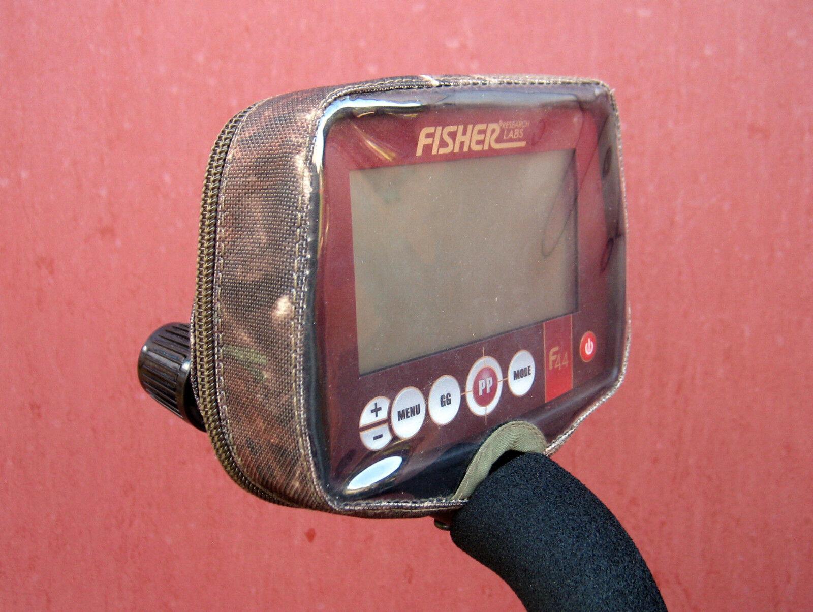 Dust dirt rain cover for a Fisher F11/F22/F44 metal detectors