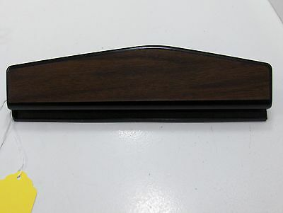 Franklin Covey Compact Hole Punch Black Metal With Brown Woodgrain Top