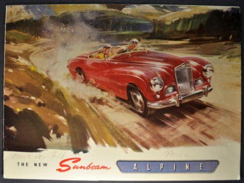 1954-1955 Sunbeam Alpine Sports Roadster Sales Brochure Folder Nice Original
