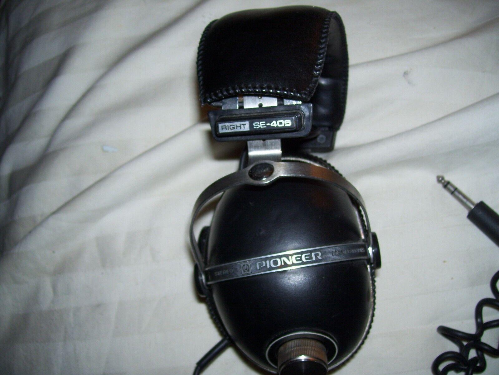 Vintage Pioneer SE-405 Stereo Headphones Untested Parts Or Repair - $8.99
