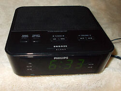 Philips AJ3116M/37 Digital Tuning Alarm Clock Radio FM Presets Small-Size Black