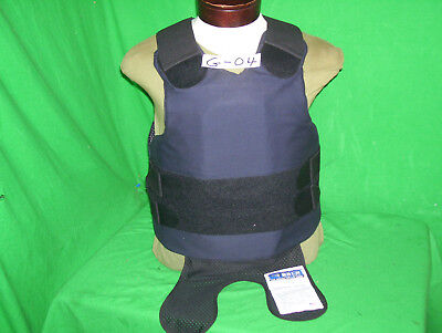 PACA Body Armor Level II Bullet Proof Vest Large Very Good + 5X8 MFG. 2008 #E-04