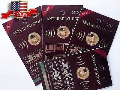 wholesale 5x Anti Radiation Patch Sticker 99% Radiation Protection Gold-24K, used for sale  Shipping to India
