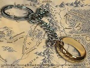 Lord-Of-The-Rings-The-Hobbit-The-One-Ring-Keychain-Brand-New-Middle-Earth