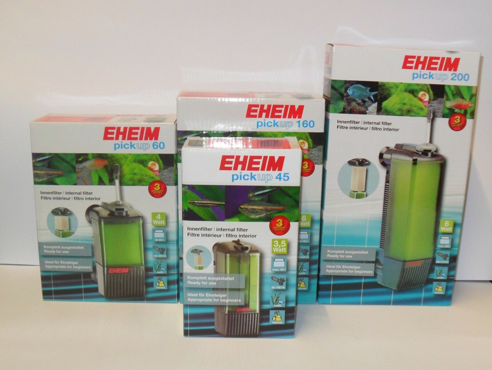 EHEIM PICKUP 45 60 160 200 INTERNAL AQUARIUM FILTER. Freshwater Fish