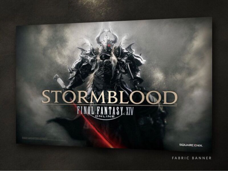Final Fantasy XIV Stormblood Collector's Banner Fabric Cloth Poster BRAND NEW!!