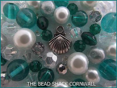 Bracelet Making Kit / Bead Mix - Mermaid ()