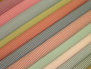 Woven-Gingham-Ticking-Cotton-Designer-Upholstery-Curtain-Quilting-Craft-Fabric