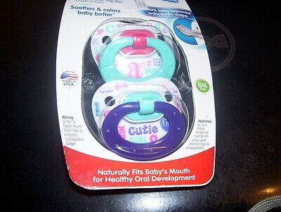 2 pack of Nuk size 0-6 month pacifiers-for girls