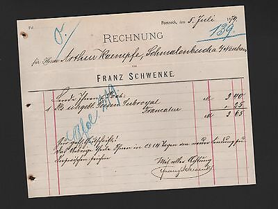 POESNECK,  Rechnung 1879, Franz Schwenke
