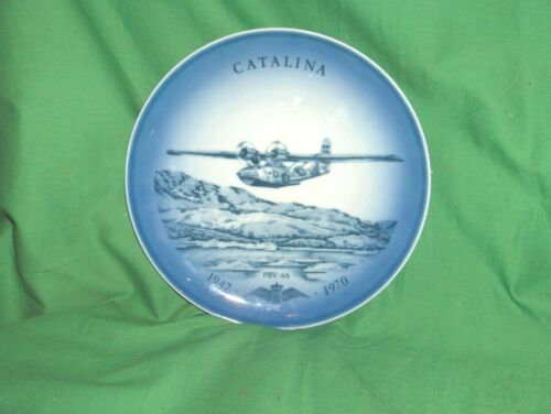 #722 - Bing & Grondahl Aviation Airplane Plate 1947-1970 Catalina PBY-6A