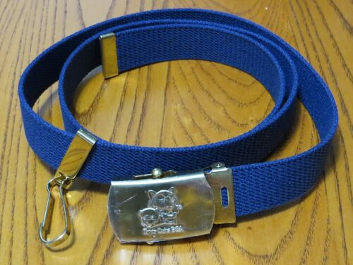 BSA Tiger Cubs Boy Scouts Blue Belt With Solid Brass Metal Buckle - Large - NEW