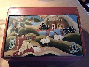 Boite peinte / hand painted box