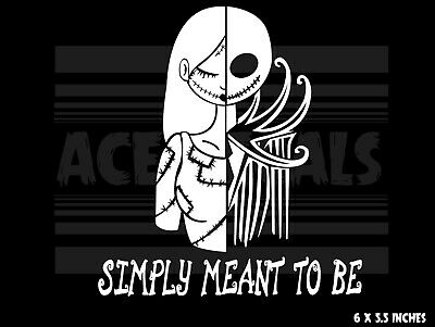 The Nightmare Before Christmas - Jack and Sally - Laptop Car decal sticker ](Jack And Sally Nightmare Before Christmas)