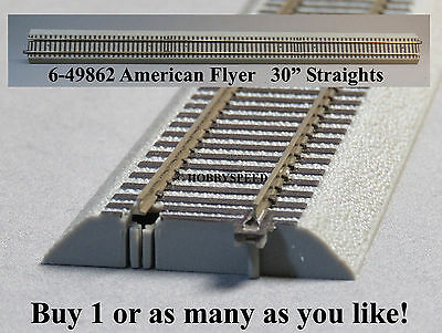LIONEL AMERICAN FLYER FASTRACK 30' INCH STRAIGHT S GAUGE AF 2 rail train 6-49862