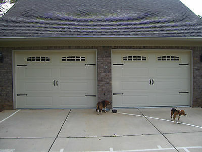 - Deluxe Garage Door Decorative Hardware Kit - Hinges & Handles - Double Kit