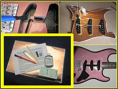 Guitarra Eléctrica Protección Kit - Conductivo Pintura Cobre Aluminio Golpeador