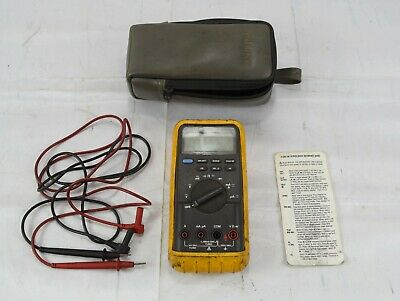 Fluke 83 Digital Multimeter W Leads Soft Case