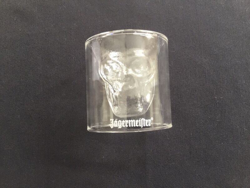JAGERMEISTER Halloween Skull Shot Glasses Set OF 8 BRAND NEW Liquor Bar Pub NiB