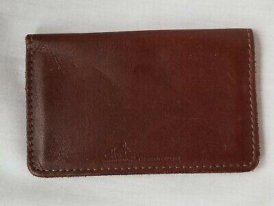 Vintage Genuine Brown Leather Hazel Personal Card Holder