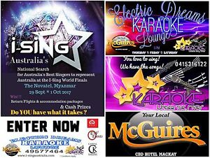 I-Sing Australia Karaoke Trials  at McGuires CBD Hotel Mackay Mackay Mackay City Preview
