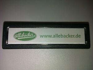 Einbau- Klingeltaster anthrazit Türeinbau Allebacker Drücker Schelle 75x22