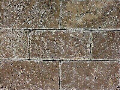 Noce Tuscany 3x6 Aged Tumbled Travertine Tile Wall Floor Kitchen Backsplash Tumbled Travertine Tile