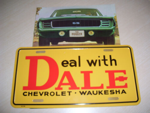 Vintage Dale Chevrolet Waukesha WI..... Deal with Dale Front Promo Plate