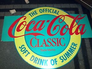 Coke double sided cardboard sign Edmonton Edmonton Area image 1