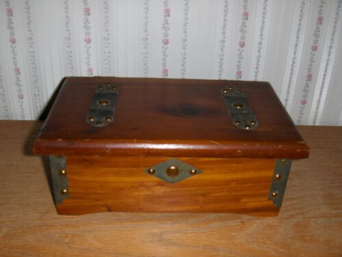 Vintage Wooden Box, Cedar Lined - Stamped SOUTH BEND TOY MFG. CO. - Indiana