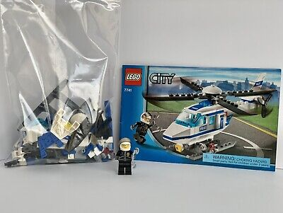 LEGO 7741 City Police Helicopter 100% Complete *Bad Stickers* Read Description