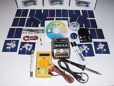 Learn to build your own solar cells panels diy kit+Secondary KIT+10 a CONTROLLER