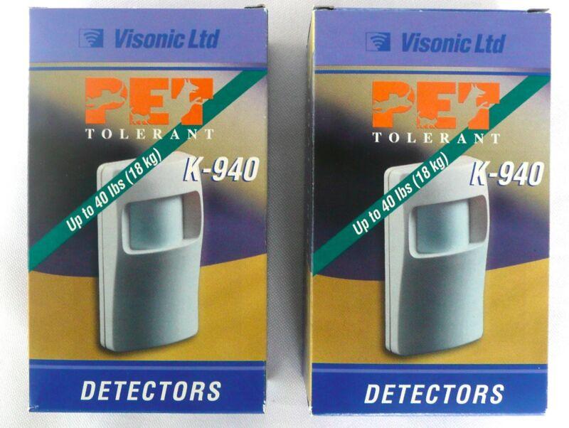 (LOT OF 2) Visonic K-940 Detector Animal Immune PIR Pet Tolerant Up To 40 lbs