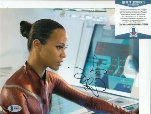 ZOE SALDANA signed (STAR TREK INTO DARKNESS) Movie 8X10 photo BECKETT BAS T56593