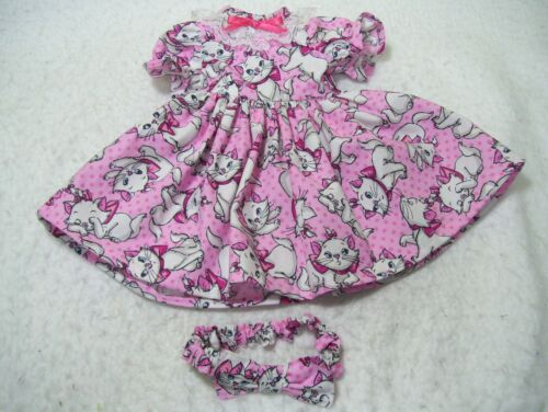 """CUTE KITTENS ON PINK----MADE TO FIT 18""""  DOLLS"""