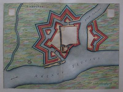 Duisburg-Ruhrort - Roeroordt - Willem Janszoon Blaeu - Original 1649