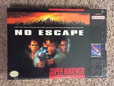 No Escape  (Super Nintendo, 1994) SNES New Sealed Rare