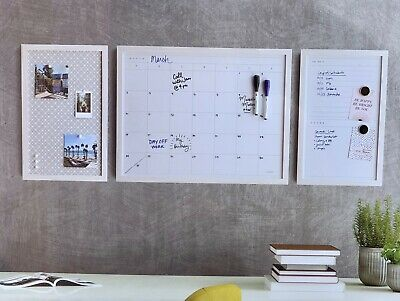 Dry Erase Calendar Organizer Board 3 Piece Set New P1023