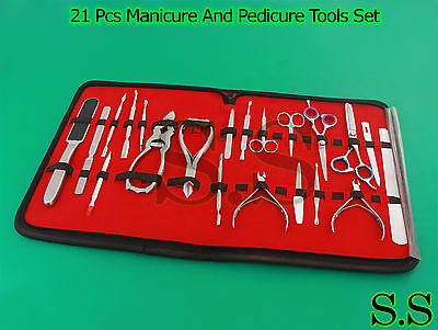 21 Pcs Best Collection Manicure And Pedicure Tools Set