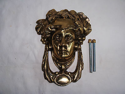 solid brass dionysus bacchus greek god front door knocker