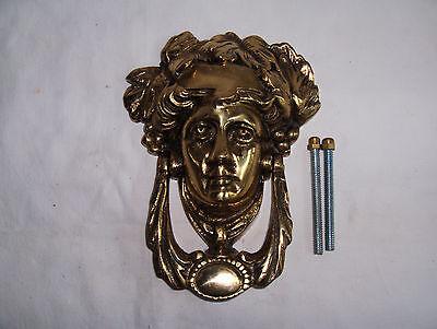 solid brass dionysus bacchus greek god front door knocker