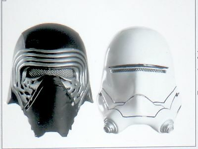 New STAR WARS Storm Trooper AND Kylo Ren Kids Costume Helmet Plastic Mask Flame