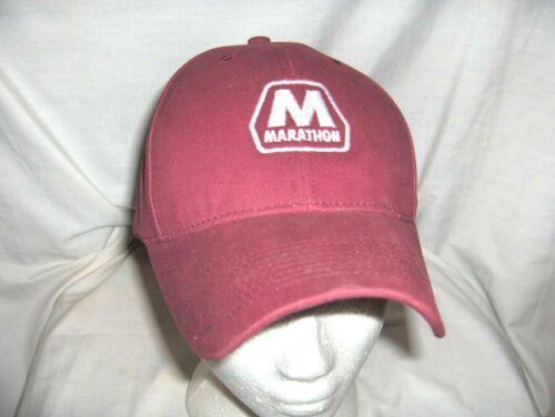 #2816C - MARATHON GAS & OIL BALL CAP, HAT WITH OKLAHOMA FLAG