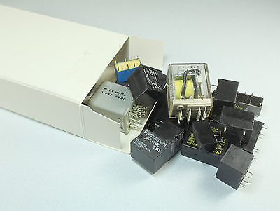 26 Pieces Relay Assortment Various Sizes And Voltages