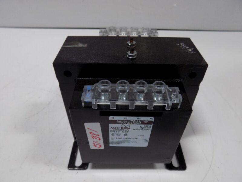 IMPERVITRAN MICRON CONTROL TRANSFORMER 500VA  B500-0064-5F