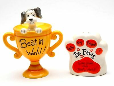 Be Paws - To Me You're The Best In The World  Salt & Pepper (Best Porcelain In The World)