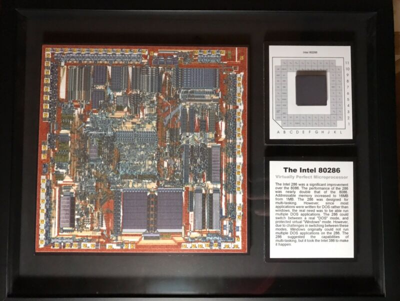 ChipsScapes (TM) Intel 80286 Microprocessor Mixed Media Framed Artwork LE 4/50