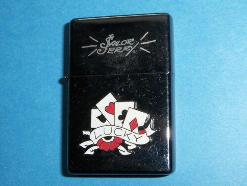 "NEW 2007 LIMITED EDITION BLACK CHROME  ""SAILOR JERRY"" LIGHTER LUCKY CARD DESIGN"
