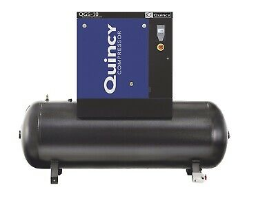 2020 Quincy Qgs-10 Rotary Screw Air Compressor 10hp With 120 Gallon Tank