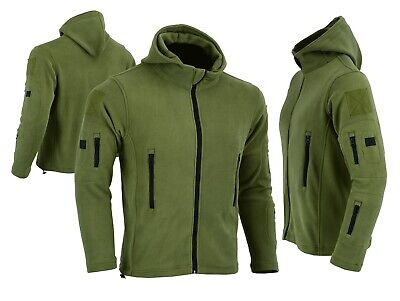 Tactical Recon Full Zip Fleece Jacket Army Hoodie Security Police Hoodie Combat